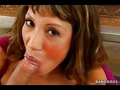 Scorching Ava Devine is loving her mans cane stuffed in her sweet mouth