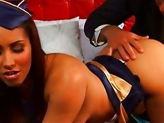 Hot brunette bitch Isis Love rams her hot twat on a hard cock till it spurts
