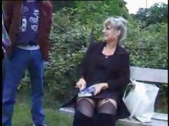 Crazy French Old Mature cheating for a gardenFuck...F70