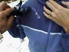 MILF Gets Creamed Outdoors