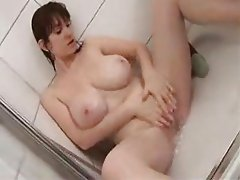 Busty Babes Teasing In Bathroom