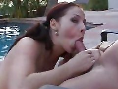 Jugsy Gianna Michaels gets her sweet wet slot packed with prick by the pool