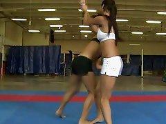 Pretty hot brunettes fighting
