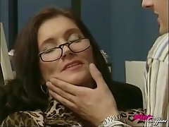 Nerdy new girl at the office likes to get fucked on her desk