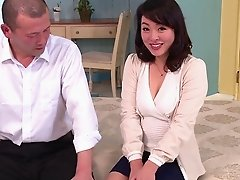 Perky Japanese milf tits are hot on this hairy hardcore girl