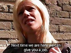 PublicAgent Blonde fucks a stranger in underground car park