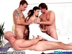 Czech Stunner Dual Invasion Group Sex