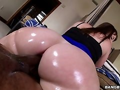 Black guy gets wildly aroused by that big white ass and fucks her
