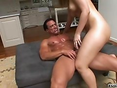 Busty porn hottie Alexis Texas treats cock a hot and nasty blowjob
