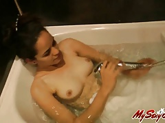 hot sexy indian amateur babe jasmine taking shower