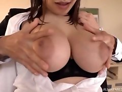 Japanese secretary Etou Yui gets her cunt fucked by her boss
