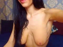 Colombian girl with luxury saggy tits