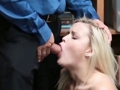 Blonde slut fucked Suspect and accomplice were caught by