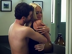 Sexy blonde cougar with a hot body enjoying a hardcore fuck in her bathroom