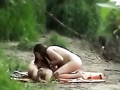 Horny Couple Being Spied On At The Beach