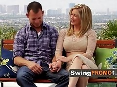 Swinger couples discuss about sex terms together with the sex psychologist and interviewer.