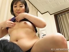 Mature Japanese lady seduces her colleague gives blowjob and fucked