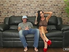 Fake titty chick Brandy Aniston fucking live and lusty