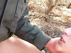 Big dick cop and jail Latina Deepthroats on the Border
