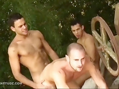 latin hunks prison threesome