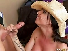 Brandy Aniston babe taste the cum from hard cock