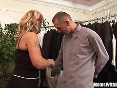 Old Lady Joanna Depp Fucks [censored]friend In Dressing Room