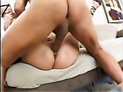Nasty bitch with huge tits Lisa Lipps rides dude's hard dick