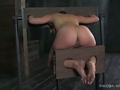 Leggy fair haired tramp had perverted BDSM sex ever