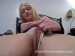 POV blowjob and doggy style fuck with a busty blonde babe
