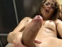Horny young guy orders one hot older blonde tranny escort