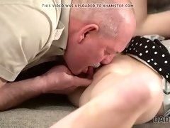 daddy4k. old daddy creampies son's new girlfriend after