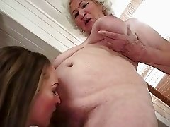 Grannies and Teens Wet Pussy Licking Compilation