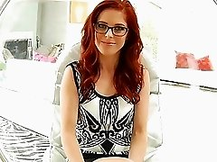 Sex interview with one pretty redhead Penny Pax