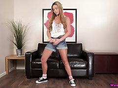Kinky girl Natalia Forrest is laying with her favorite dildo fellow