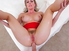 Step mommy tries insane sex with her son