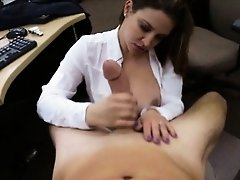 Huge juggs amateur woman pawns her pussy for plane ticket