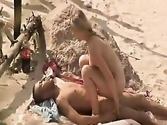 Blonde sex at the beach