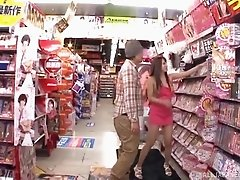 Ayaka Tomoda attacks a guy in a supermarket for a hardcore fuck