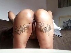 Tattooed babe is getting fucked