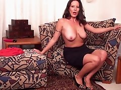 Solo masturbation adventure with the hottest brunette cougar