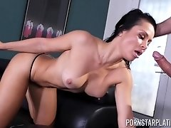 Crystal Rush gives a great blowjob and gets fucked missionary style