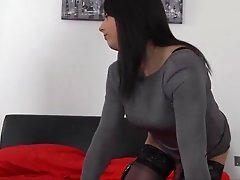 Sexy Milf anal fucks tranny and wanks her off to cum hard