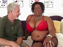 Sexy black plumper Marliese Morgan gets fucked har