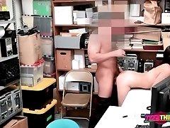 Officer sticks his big cock inside Emily's punani