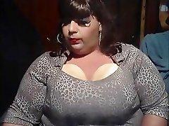 BBW Sissy Diane Fake Boobies Smoke