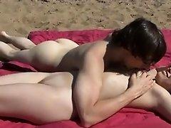 Shameless Public sex at a Nude Beach