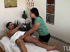 Fellow receives sex as a surprise during gentle massage