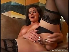 Gorgeous Brunette Toys Her Hot Pussy