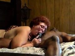 Chunky redhead wife brings her interracial fantasy to life