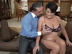 Buxom mature BBW Dolly Bee pounded and creampied hardcore